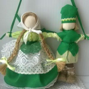 Свадебная кукла Неразлучники Зеленая свадьба